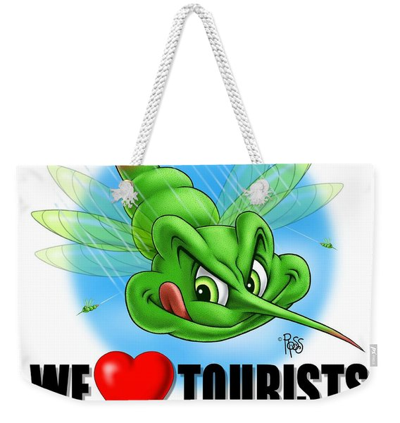 We Love Tourists Mosquito Weekender Tote Bag
