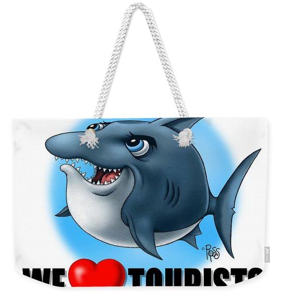 We Love Tourists Shark Weekender Tote Bag