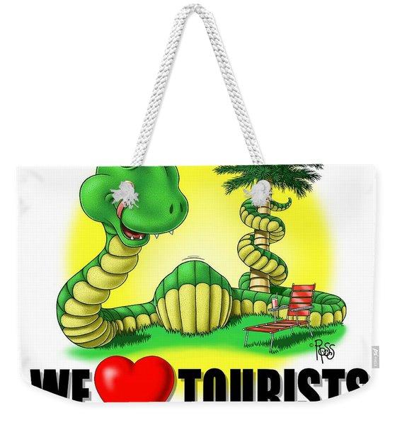 We Love Tourists Snake Weekender Tote Bag