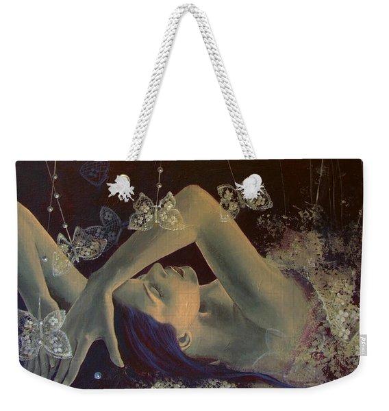 Weaving Lace Wings... Weekender Tote Bag