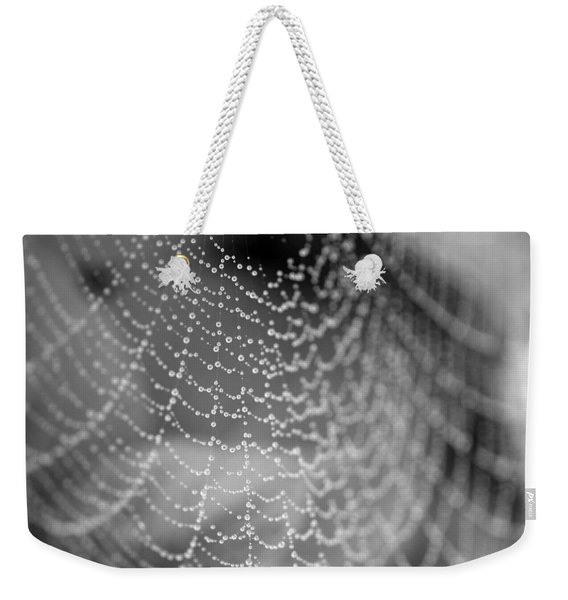 Web In The Rain Weekender Tote Bag