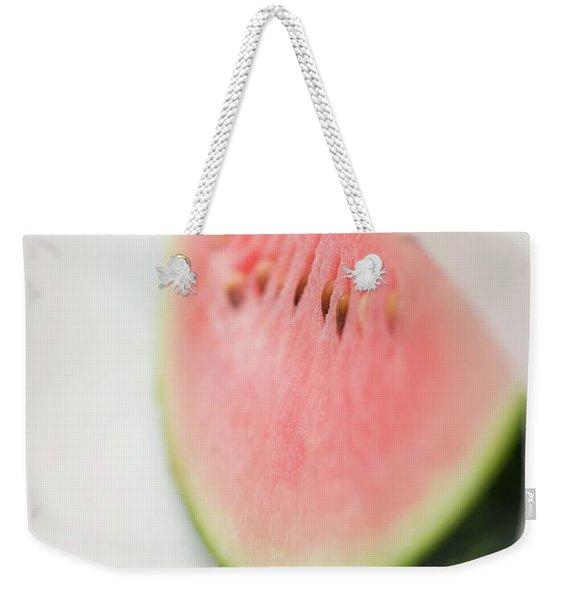Wedge Of Watermelon On Plate Weekender Tote Bag