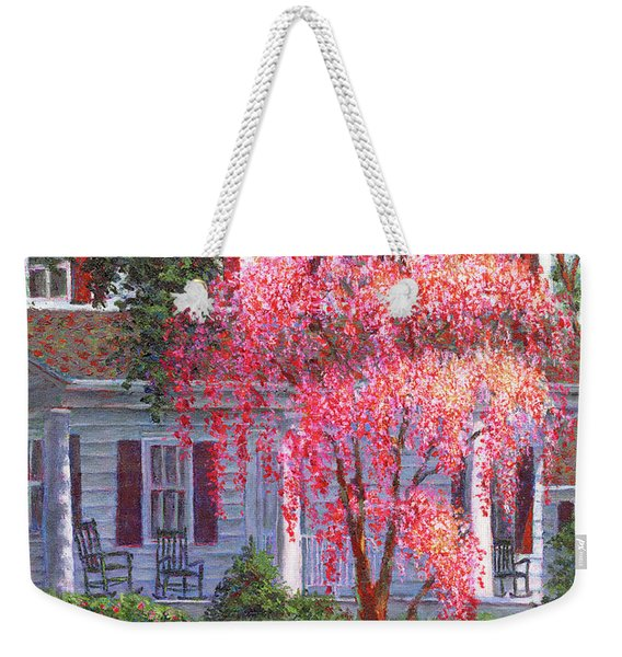 Weeping Cherry By The Veranda Weekender Tote Bag