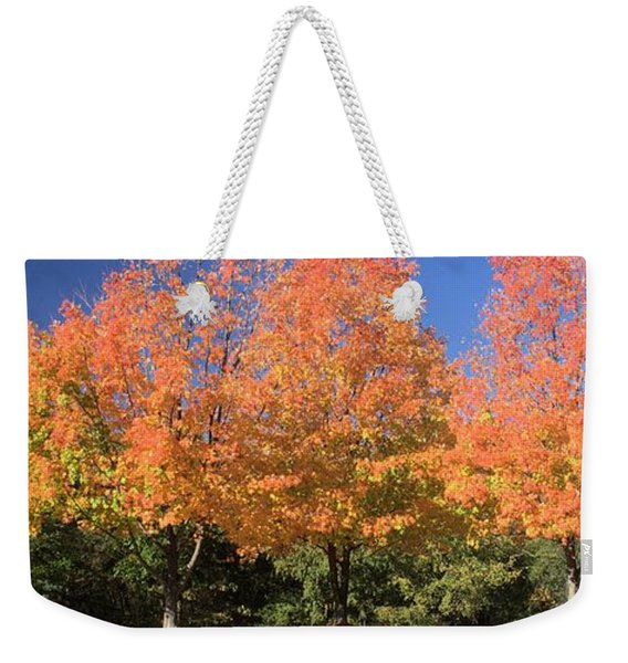 Welcome Autumn Weekender Tote Bag