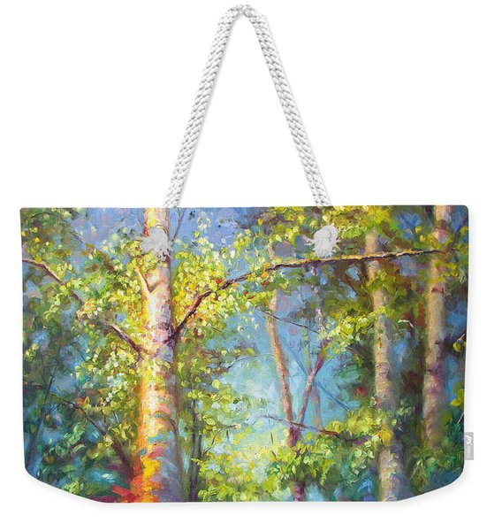 Welcome Home - Birch And Aspen Trees Weekender Tote Bag