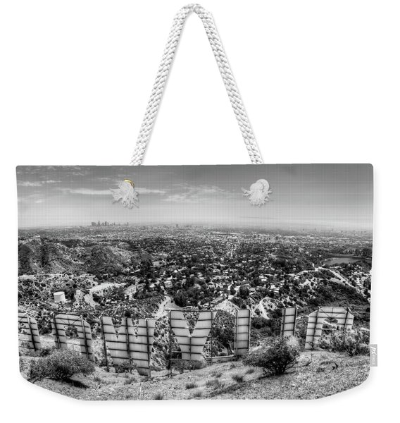 Welcome To Hollywood - Bw Weekender Tote Bag