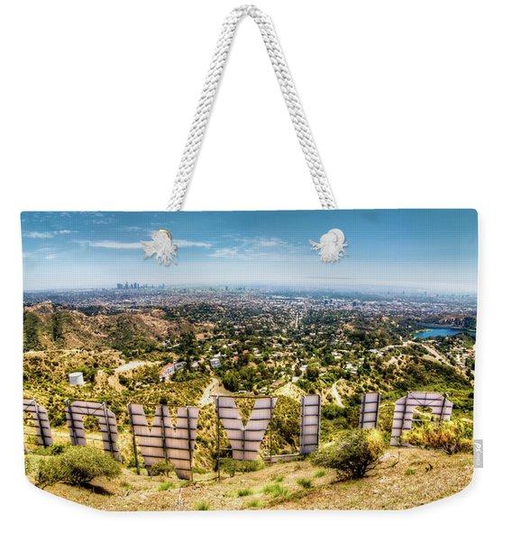Welcome To Hollywood Weekender Tote Bag