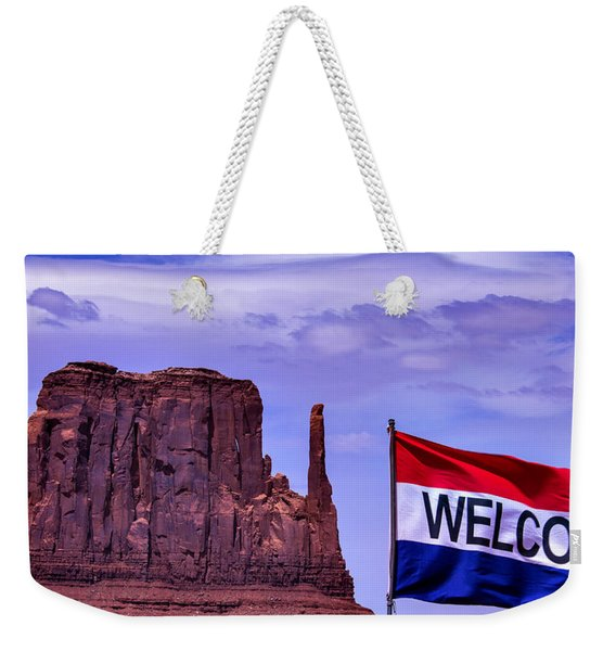 Welcome To Monument Valley Weekender Tote Bag