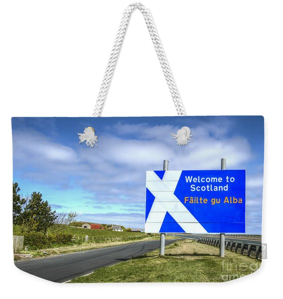 Welcome To Scotland Weekender Tote Bag
