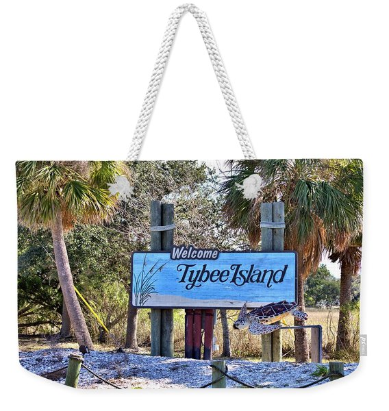 Welcome To Tybee Weekender Tote Bag