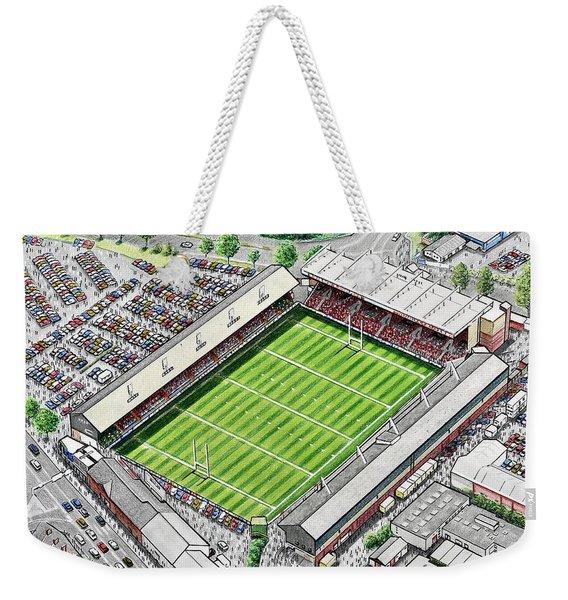 Welford Road Stadium Art - Leicester Tigers Weekender Tote Bag