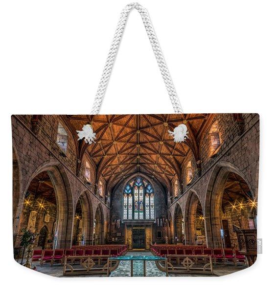 Welsh Cathedral  Weekender Tote Bag