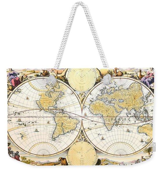 Antique World Map Weekender Tote Bag