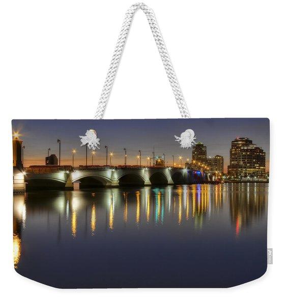 West Palm Beach At Night Weekender Tote Bag