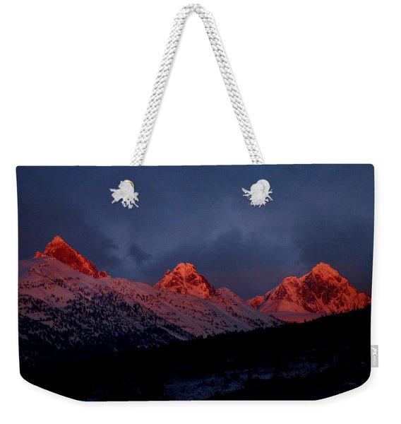 West Side Teton Sunset Weekender Tote Bag