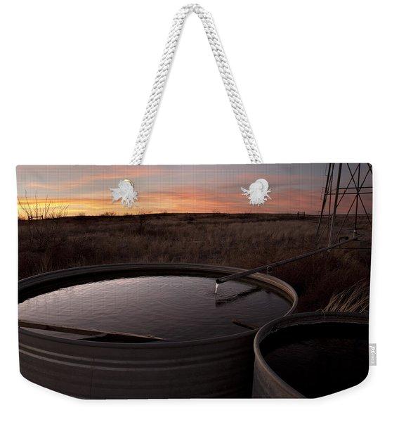 West Texas Plains Sunset Weekender Tote Bag