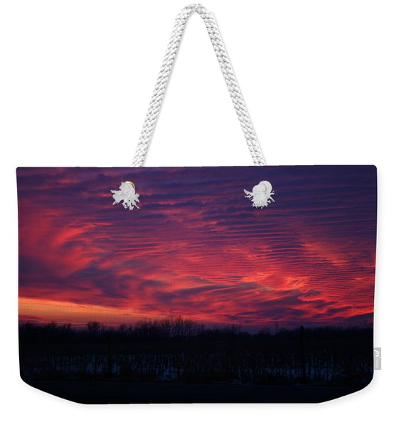 Western Evening Weekender Tote Bag