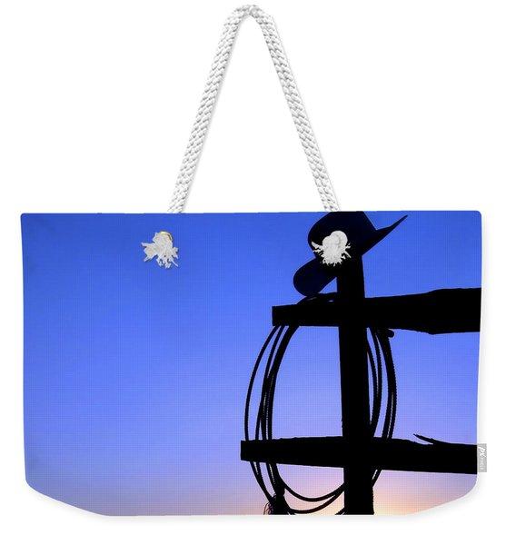 Western Sunset Weekender Tote Bag