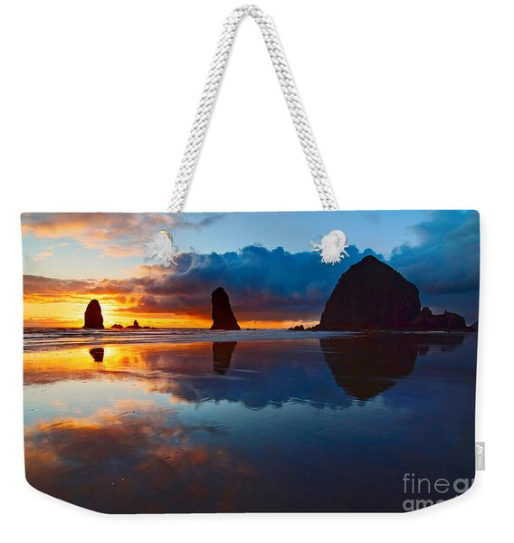 Wet Paint - Sunset In Oregon Weekender Tote Bag