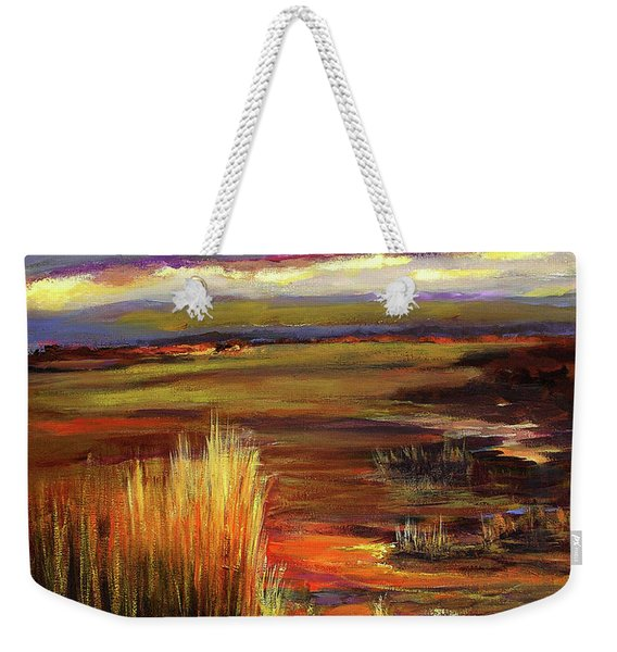Wetlands Sunset Iv Weekender Tote Bag