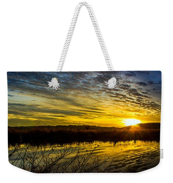 Wetlands Sunset Weekender Tote Bag