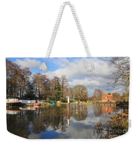 Wey Canal Surrey England Uk Weekender Tote Bag