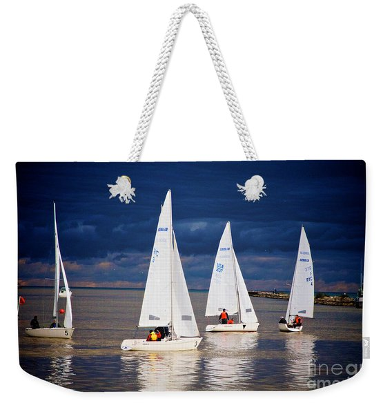 Weekender Tote Bag featuring the photograph What Storm by William Norton