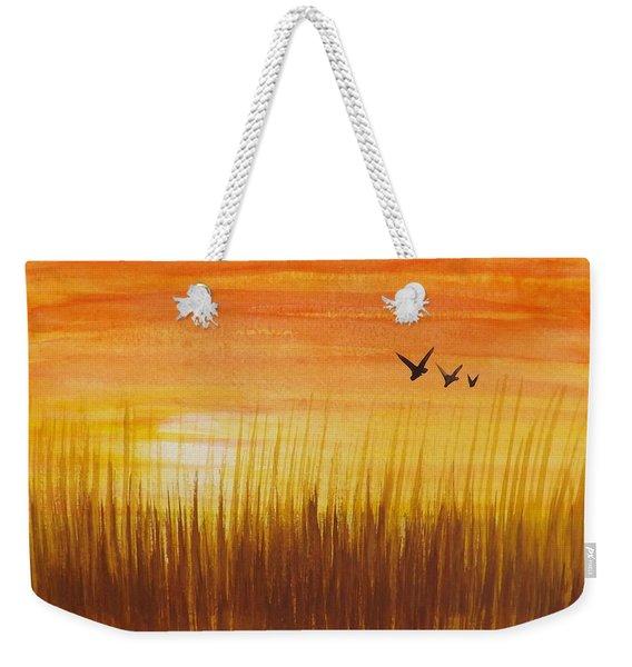 Wheatfield At Sunset Weekender Tote Bag