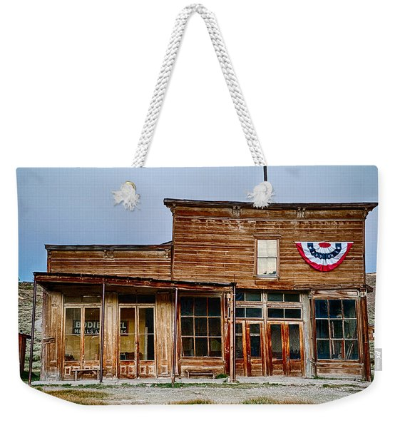 Wheaton And Hollis Hotel At Blue Hour Weekender Tote Bag