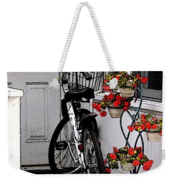 Wheels And Flowers Weekender Tote Bag