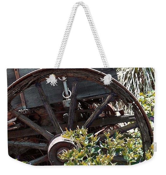 Wheels In The Garden Weekender Tote Bag