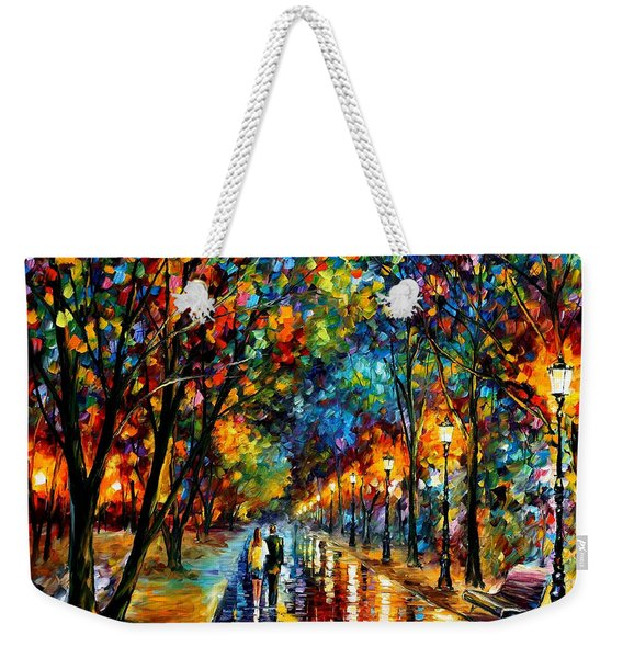 When Dreams Come True - Palette Knlfe Landscape Park Oil Painting On Canvas By Leonid Afremov Weekender Tote Bag