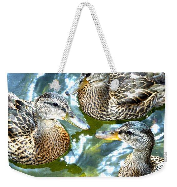 When Duck Bills Meet Weekender Tote Bag
