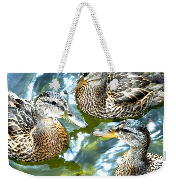 When Duck Bills Meet Weekender Tote Bag