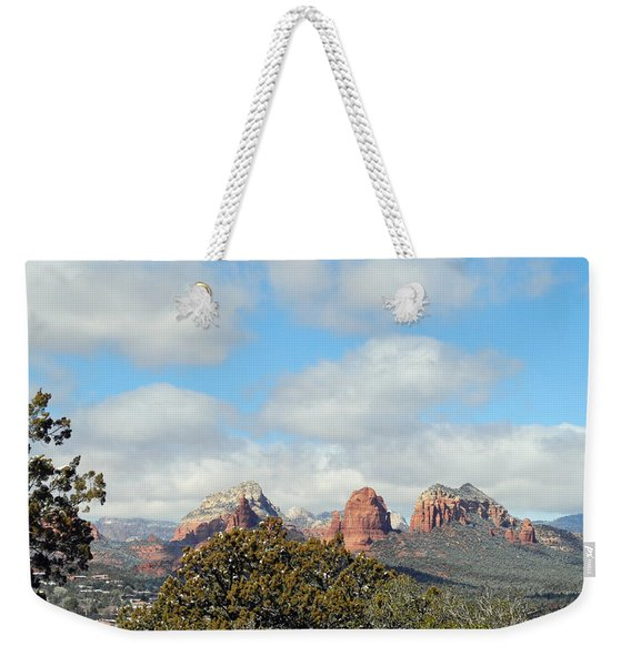 When Far Clouds Depart Weekender Tote Bag
