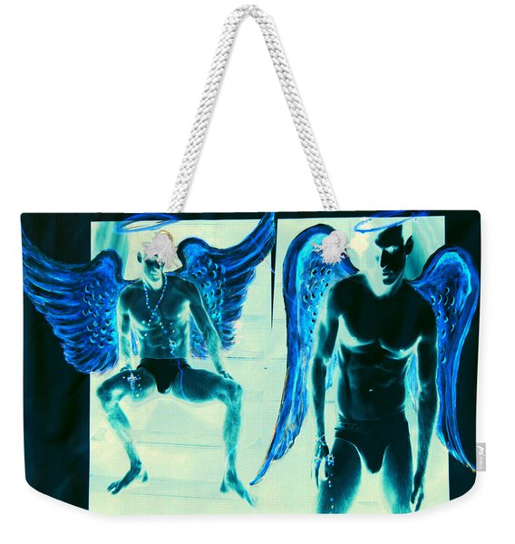 When Heaven And Earth Collide Series Weekender Tote Bag