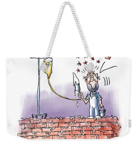 When Life Throws You Bricks Weekender Tote Bag