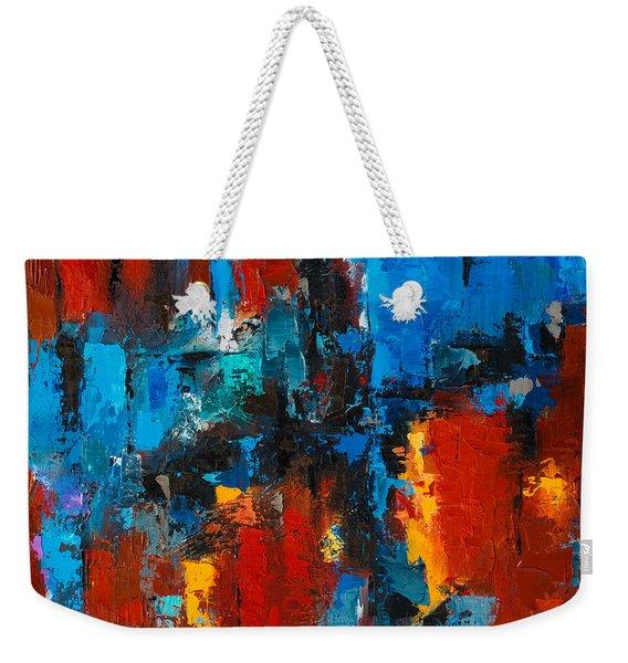 When Red And Blue Meet Weekender Tote Bag