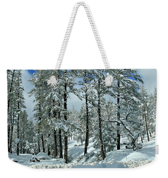 Whispering Snow Weekender Tote Bag