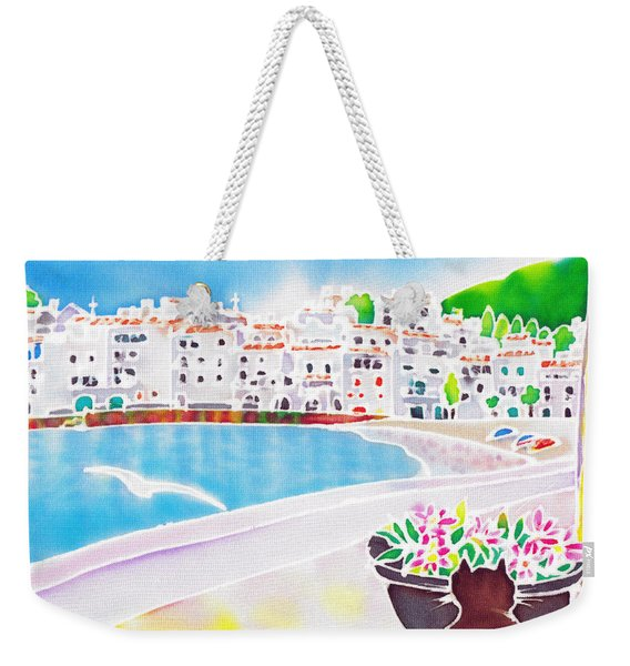 White And Blue 2 Weekender Tote Bag
