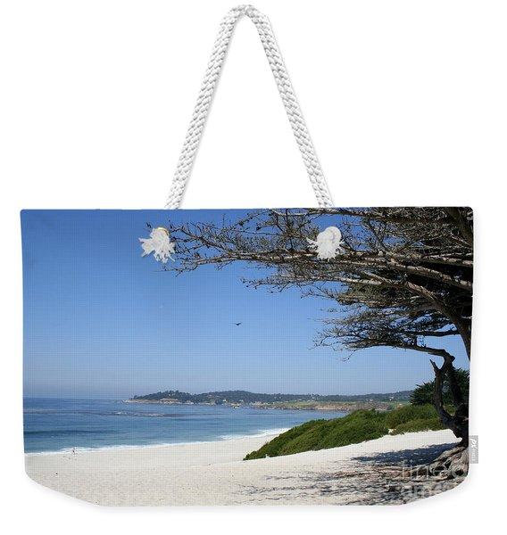 White Beach At Carmel Weekender Tote Bag