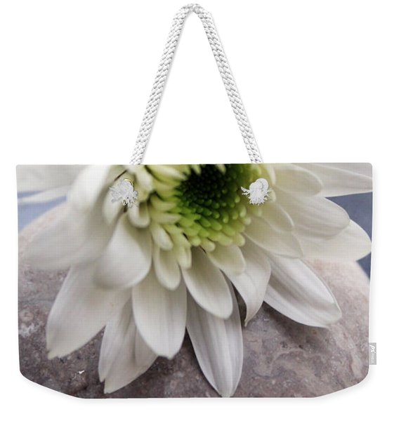 White Blossom On Rocks Weekender Tote Bag