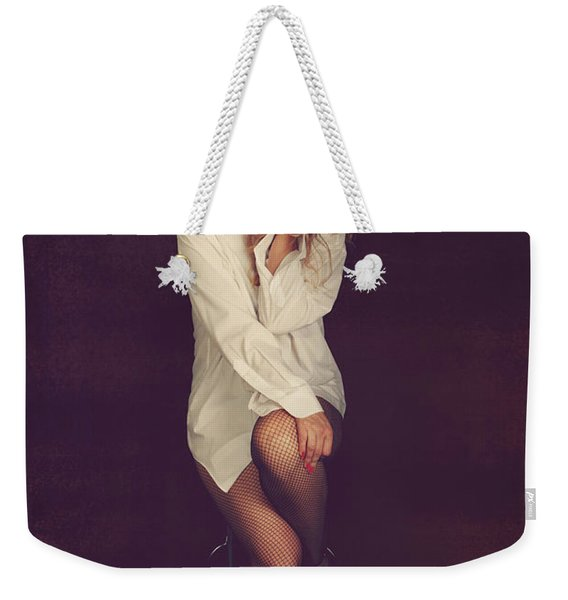 White Button-down Weekender Tote Bag