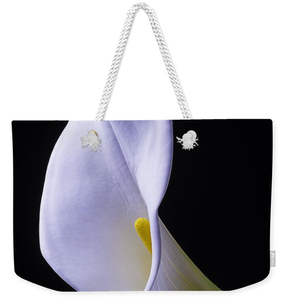 White Calla Lily Portrait Weekender Tote Bag