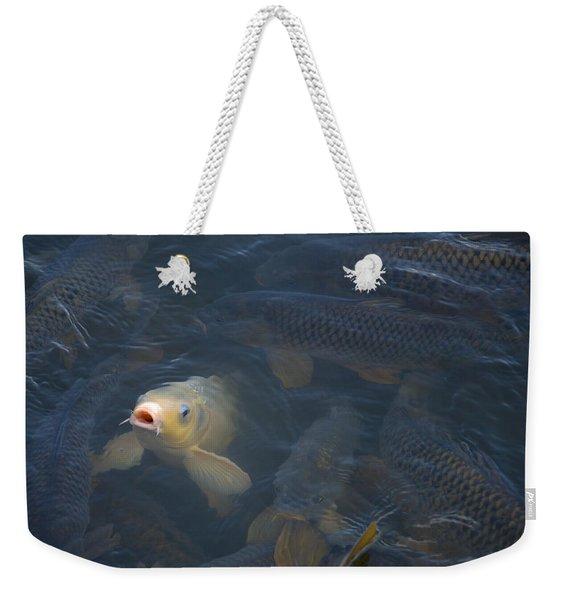 White Carp In The Lake Weekender Tote Bag