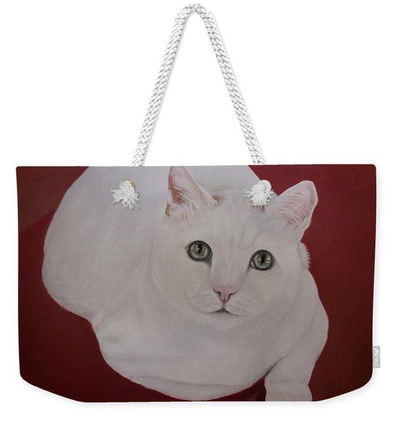 White Cat Weekender Tote Bag