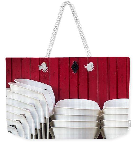 White Chairs Weekender Tote Bag
