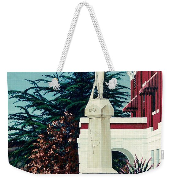 White County Courthouse - Civil War Memorial Weekender Tote Bag