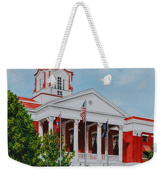 White County Courthouse - Veteran's Memorial Weekender Tote Bag
