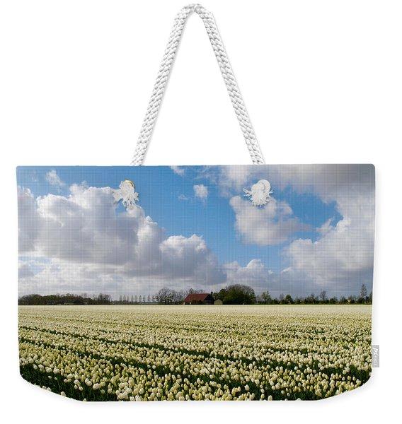 White Field Weekender Tote Bag